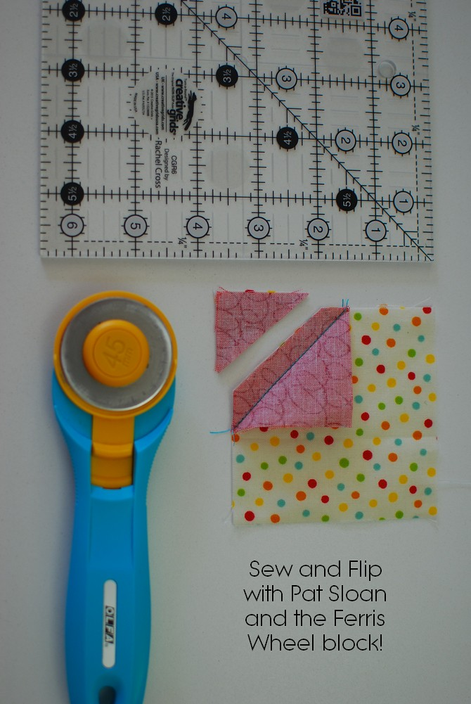 pat sloan sew and flip tutorial button