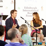 Owen Sheers and Emily Woof | Owen Sheers and Emily Woof discuss dangerous romances at the Book Festival © Helen Jones