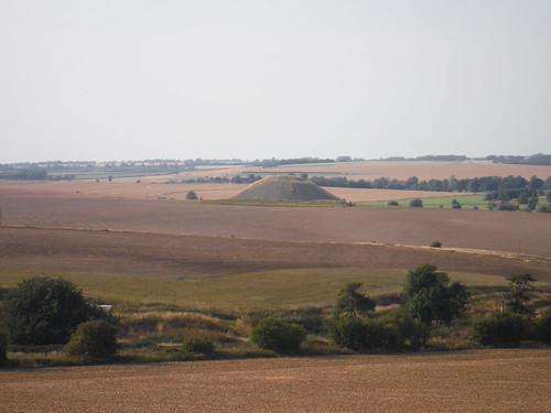 Silbury Hill from The Wansdyke
