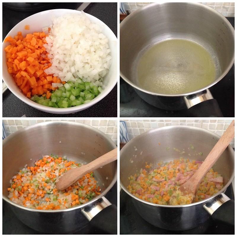 Bolognaise sauce process 1