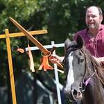 Sir Anton on the rings riding Pusher