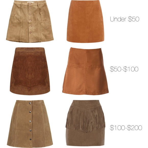 Suede Skirts