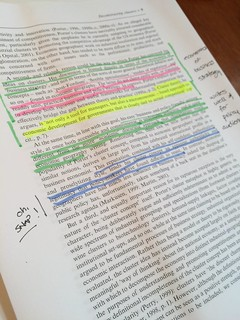 Highlighting and writing by hand