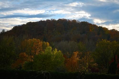 trees sky orange colors clouds fuji couleurs vert bleu ciel arbres nuages fujinon maxsat fujixe1 maxwellsaturnin