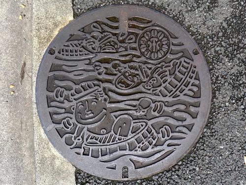 Ito Shizuoka, manhole cover 2 (静岡県伊東市のマンホール2)