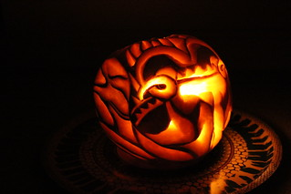 Red Dragon Pumpkin Carving by @crownjulesb Oct 2015