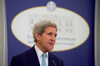 Secretary Kerry Speaks to the Press at News Conference in Athens