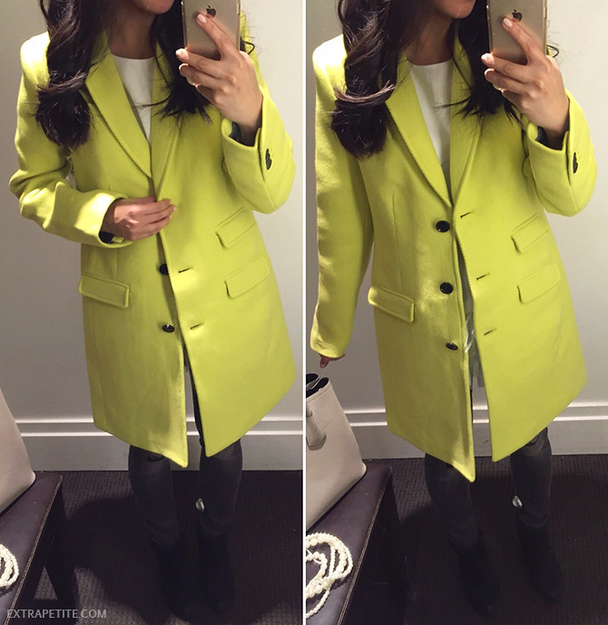 Banana Republic petite yellow coat