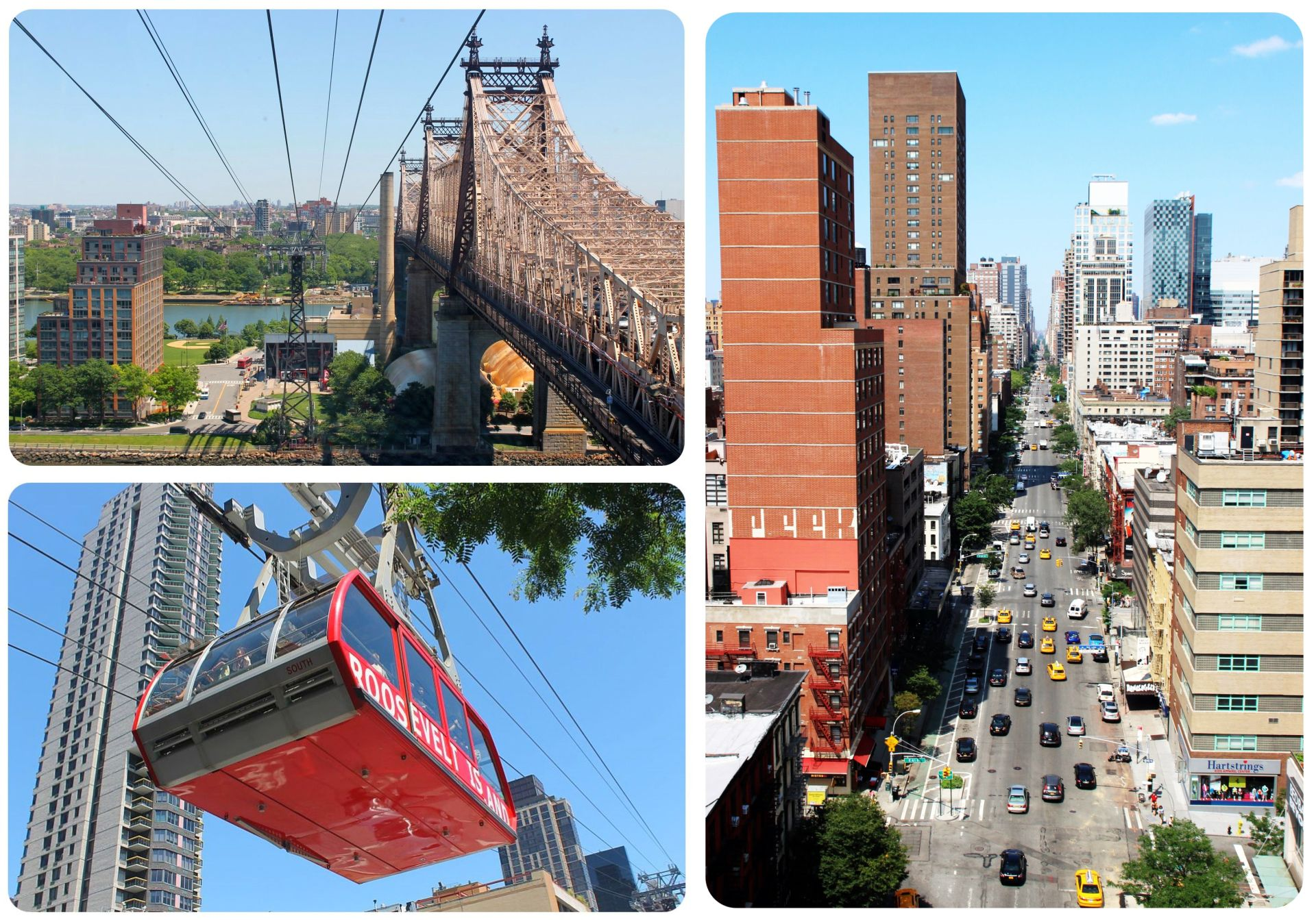 New York Roosevelt Island Aerial Tram Views