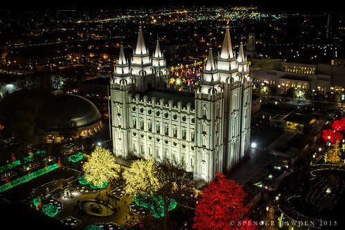 christmas city house lake night canon festive temple lights glow god salt mormon spencer lds hdr arial t3i bawden 600d spazoto