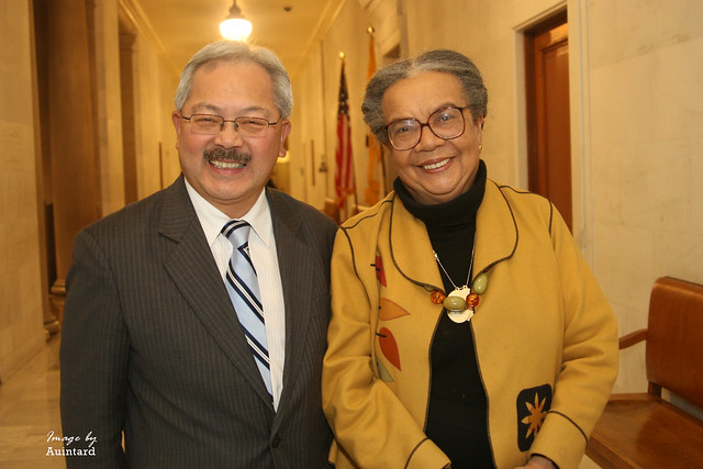 Reception with Marian Wright Edelman and Mayor Ed Lee