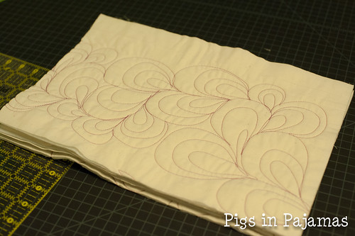 Cut longarm quilted pieces