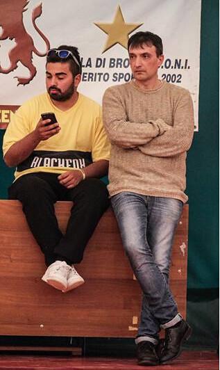 Rutigliano-Davide Limone ( sulla sinistra ) al fianco del Ds Di Maso ( sulla destra)