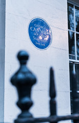 Photo of George Canning blue plaque