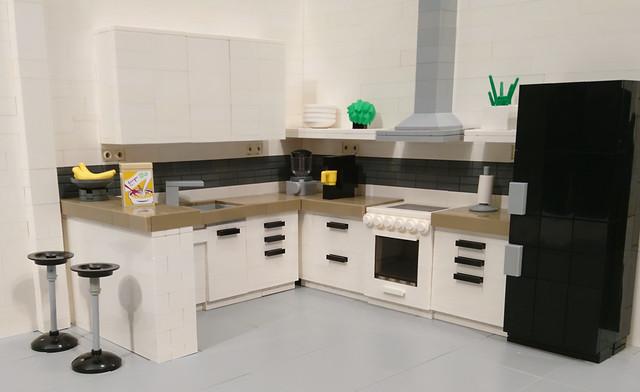 LEGO White Kitchen