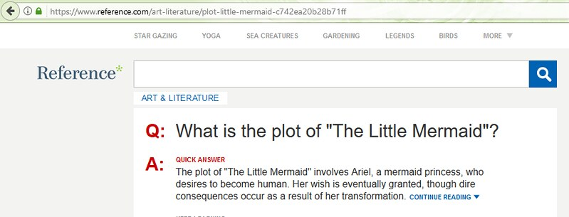 Little Mermaid Summary