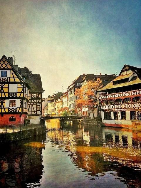 La Petite France à Strasbourg (Alsace, Bas-Rhin)