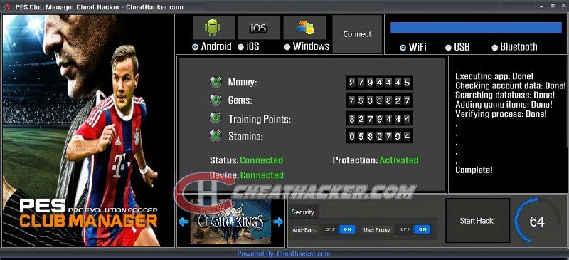 pes club manager hack tool download