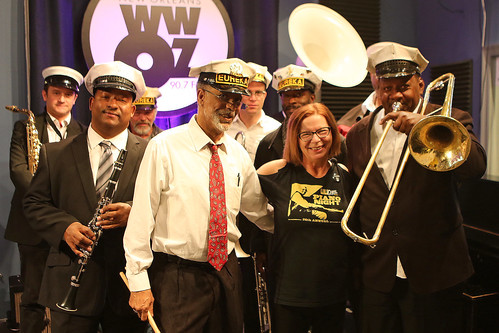 Olivia Greene with the Eureka Brass Band.Photo by Bill Sasser