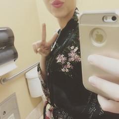 Rewind to Friday and getting to wear my #kimono to work #shamelessbathroomselfie
