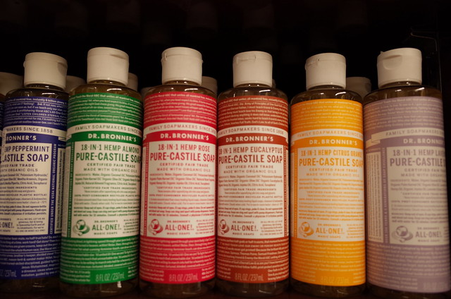 Dr Bronners Soaps
