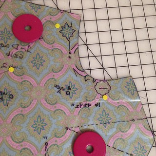 Pattern matching is slow work. I'm enjoying myself! Hope these pieces all match up! #round1 #prsewingbee