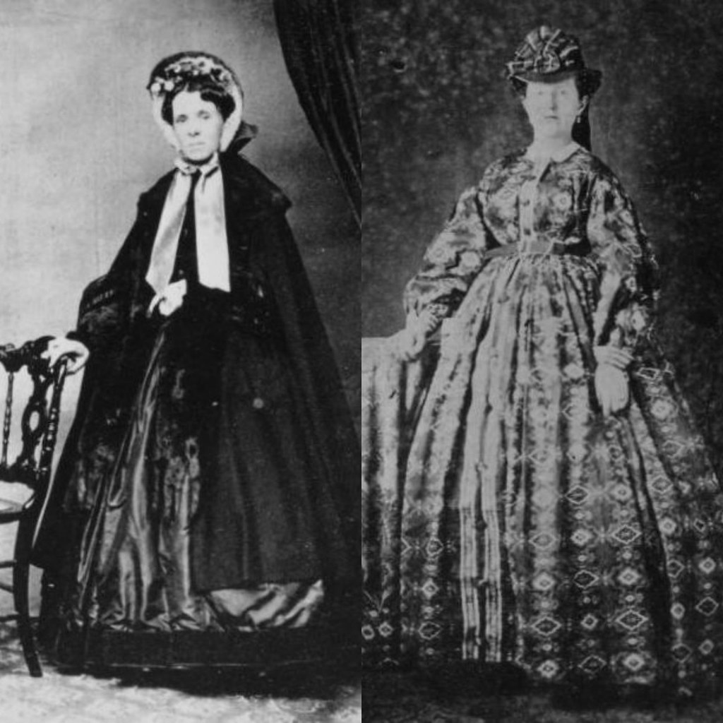 Ladies' dresses from 1870-1875