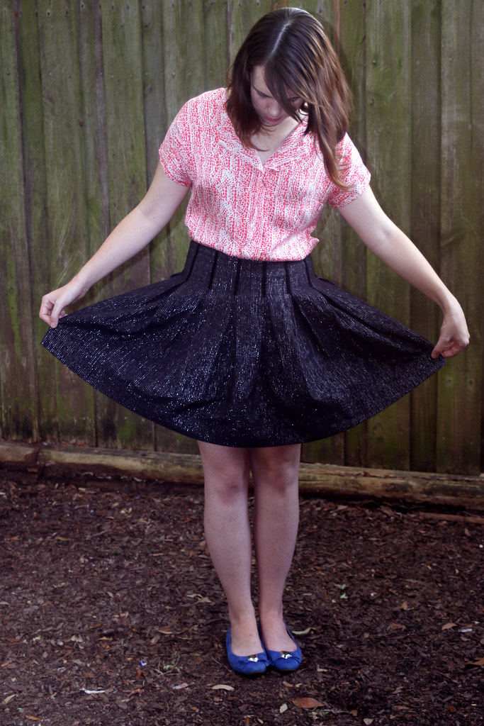 Self Drafted Box Pleat Skirt