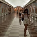 Turista en el metro