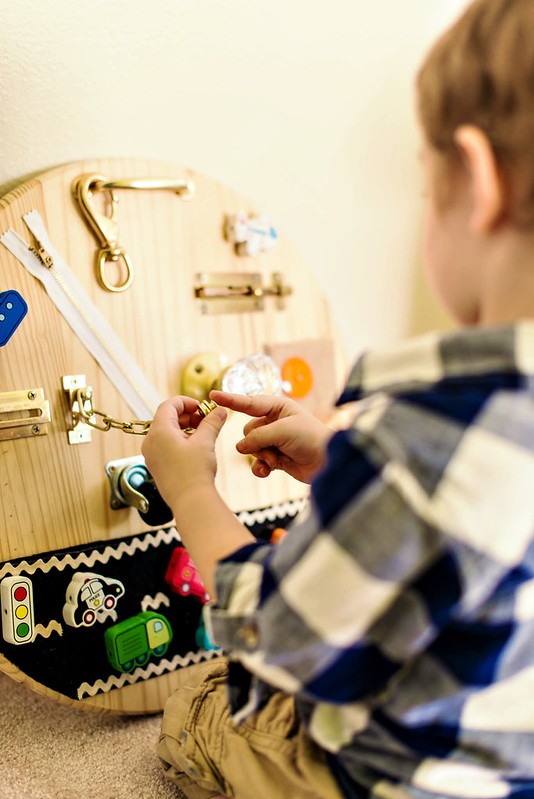 diy hardware busy board for toddlers #playskoolcrew