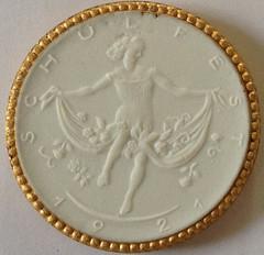 1921 German White Porcelain Notgeld obverse