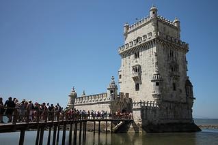 Image of Belém Tower near Algés. portugal tour lisbonne belém tourdebelém stylemanuélin