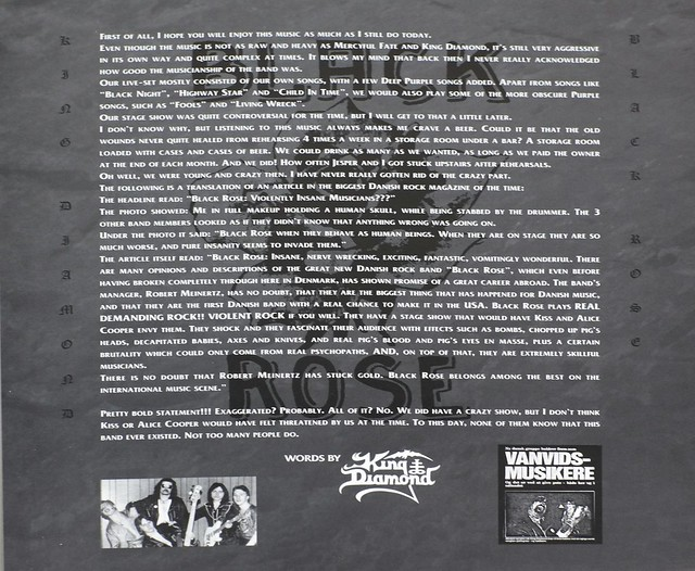 "KING DIAMOND AND BLACK ROSE - 20 YEARS AGO - A NIGHT OF REHEARSAL 12"" LP ALBUM VINYL"
