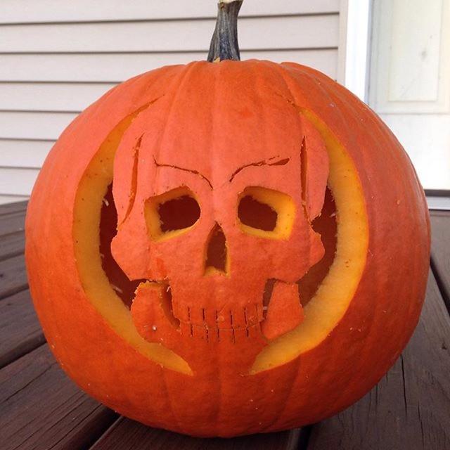 Skull Jack o'lantern