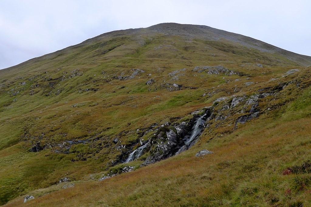 Waterfalls below Creag nan Clachan Geala
