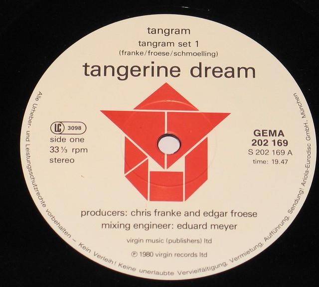 """Tangerine Dream Tangram 12"""" vinyl lp"""