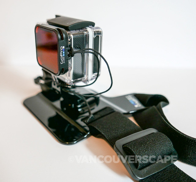 GoPro HERO4 Black, Chesty mount, Red Dive Filter