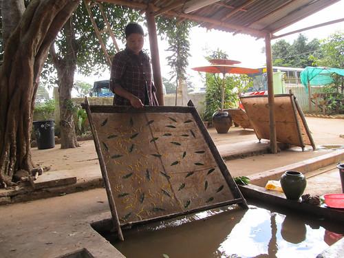 Pindaya: la fabrique d'ombrelles et de lampes en papier