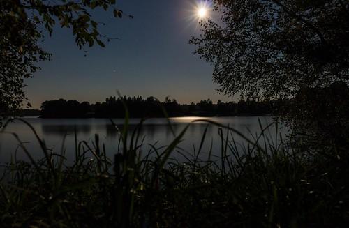 Fin de l'éclipse Lunaire, au petit matin.