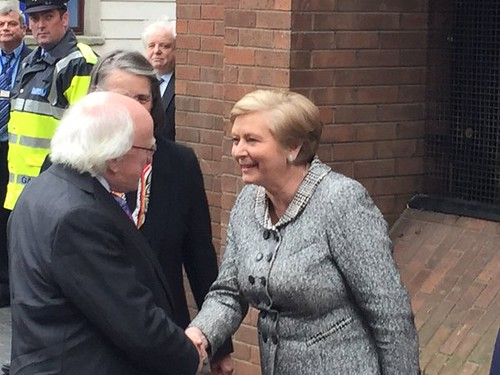 Minister Fitzgerald welcomes President Higgins to the historic Public Records Office and home to the new Court of Appeal - 26 November 2015