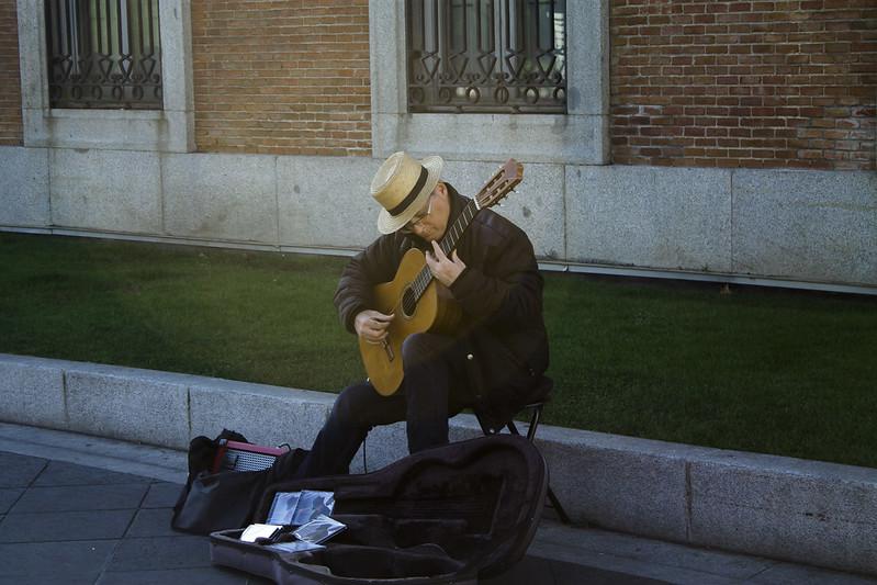 Guitarrista en el Prado