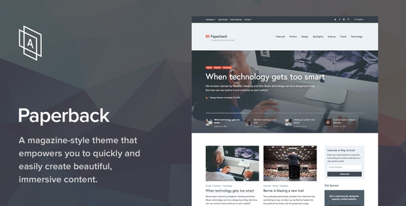 Paperback v1.6.0 - Magazine WordPress Theme