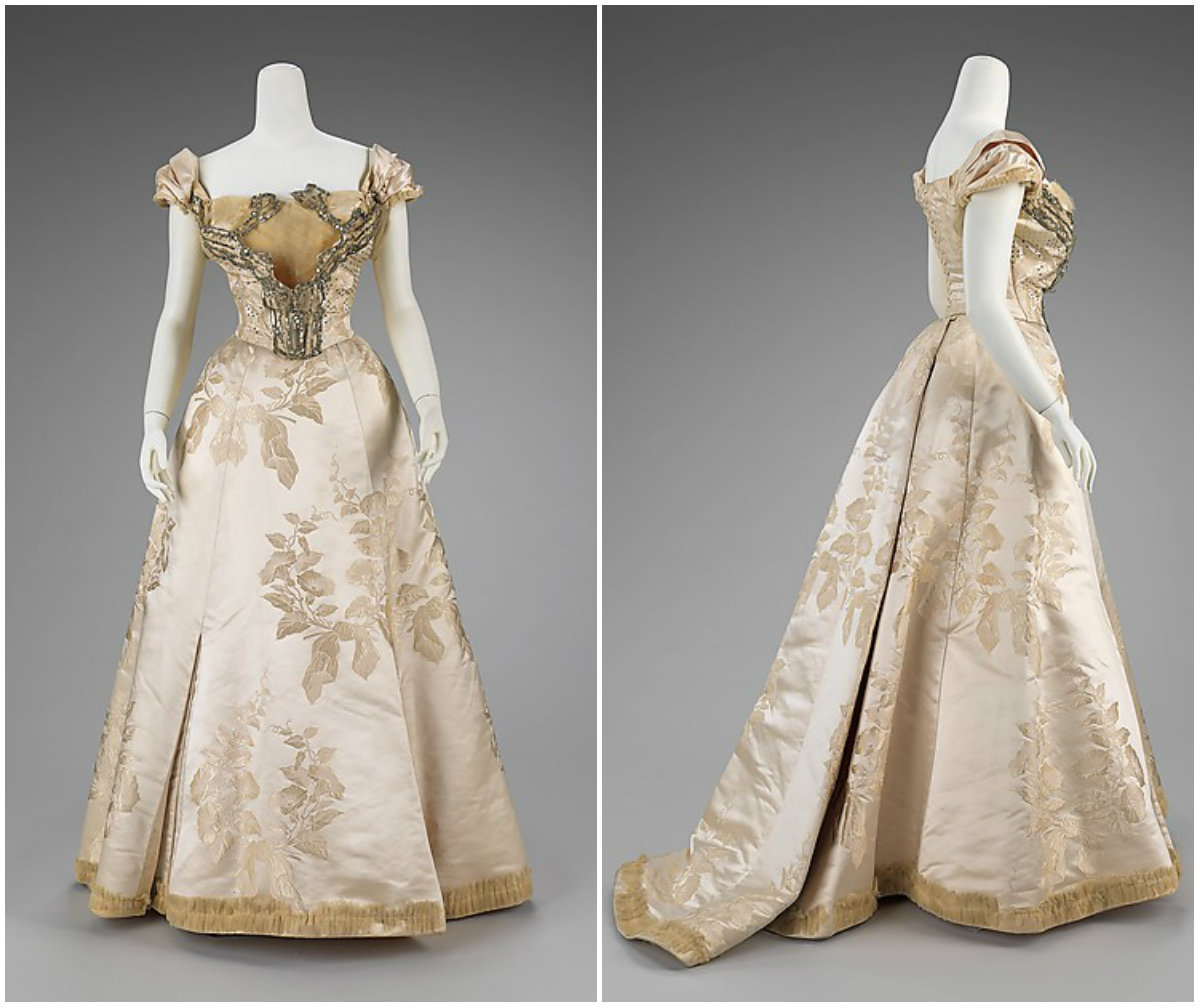 1895. Ball Gown. French. Silk. metmuseum
