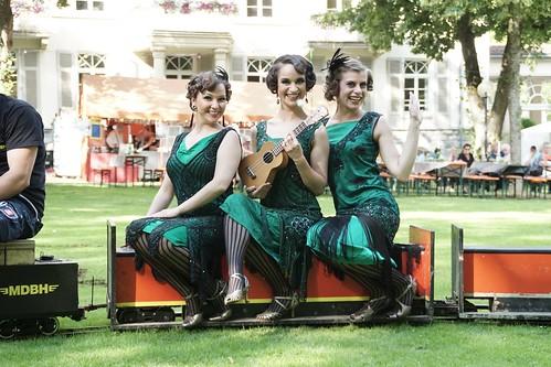 Schauplatz begeisternder Veranstaltungen ist der Kurpark auch. Hier das Kurparkfest im Stil der 20er Jahre.