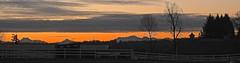 Westhill sunset panorama