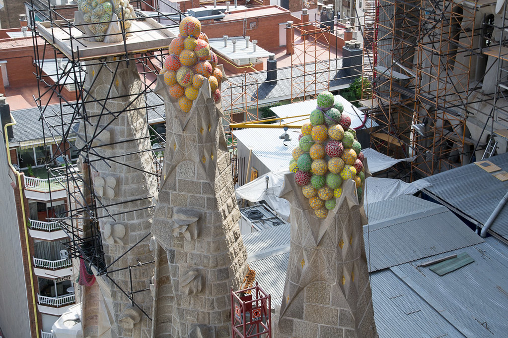 Views from top of Sagrada Familia