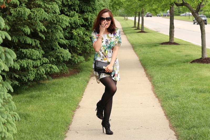 Botanical-print-dress-tights-strappy-sandals-8