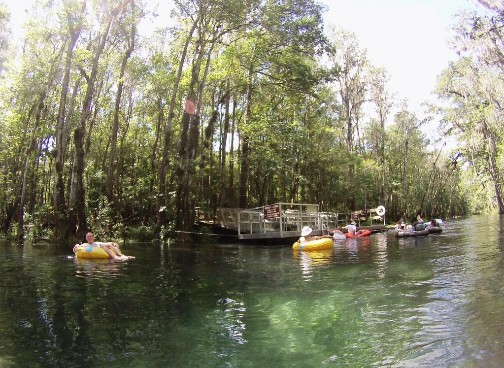 Tubing in Ichetucknee State Park, Florida, Aug. 2015