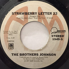 THE BROTHERS JOHNSON:STRAWBERRY LETTER 23(LABEL SIDE-A)