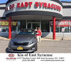 Congratulations Joanne on your new car  from Eduardo Castillo at Kia of East Syracuse! #NewCar